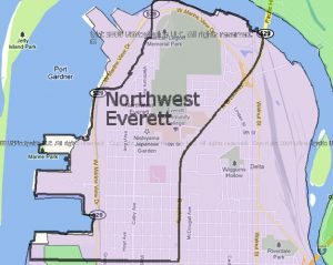 Everett NW Neighborhood map
