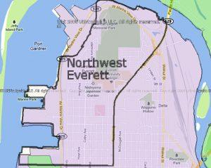 Everett NW Neighborhood map